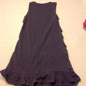Old Navy Dresses - Old Navy gray ruffled dress💙$1 when bundled💙